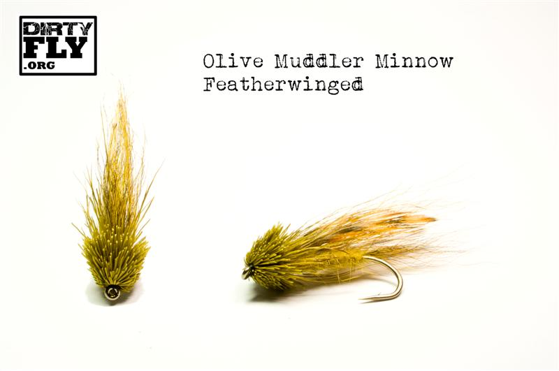 Olive Feather Winged Muddler